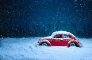 автомобиль в холоде